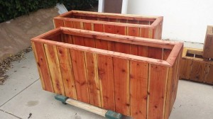 54x17x24 custom redwood planter boxes