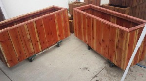 54x17x24 custom redwood planter box