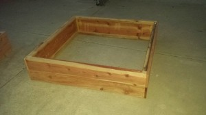 redwood raised bed garden planter box