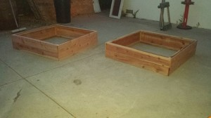 48x48x12 redwood garden boxes