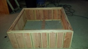 48 x 48 x 18 raised bed redwood planter box