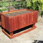 48 x 30 x 32 elevated raised bed redwood planter