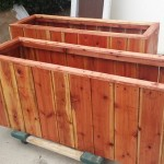 54 x 13 x 24 redwood planters, privacy bambo boxes