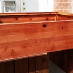 48 x 48 x 12 - horizontal board redwood rasied bed