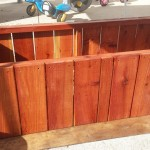 60 x 24 x 18 redwood planter box