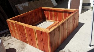 48 x 48 x 18 beautiful redwood raised bed planter box