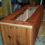 36 x 12 x 12 redwood herb planter