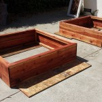 48 x 48 x 12 horizontal design raised bed redwood planters