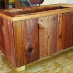 24 x 12 x 12 redwood herb planter