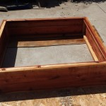 48 x 48 x 12 horizontal design raised bed redwood planter