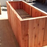 "7 foot x 3 foot x 36"" elevated redwood raised bed planter"