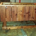 48 x 30 x 32 elevated redwood raised bed garden planter