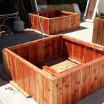 48 x 48 x 18 redwood raised beds made for asphalt