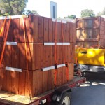 72 x 42 x 24 redwood planters