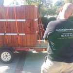delivering redwood planters