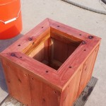 12 x 12 x 12 redwood planter