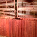 48 x 24 x 36 redwood planter with custom privacy trellis
