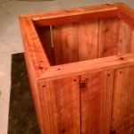 32 x 36  x 18 redwood planter