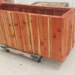 54 x 13 x 24 redwood planter, privacy bambo box