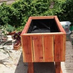 Redwood Elevated Raised Bed Planter