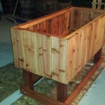 Redwood Elevated planter