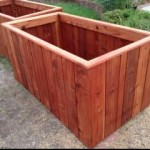Huge Redwood planter boxes