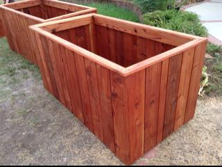Huge Redwood planter boxes