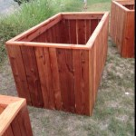 Massive redwood planter boxes