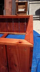 raised bed redwood planter