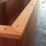 Redwood planter beveled tops