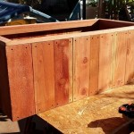 Solid Redwood Planter