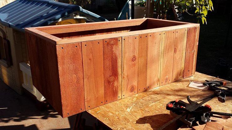Solid Redwood Planter