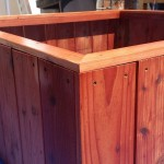 redwood planter raised bed vertical design