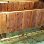 Raised bed elevated redwood garden box