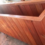 Redwood Planter - Vertical boards