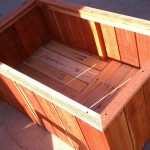 Redwood Planter with draining bottom