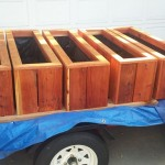 redwood herb planter