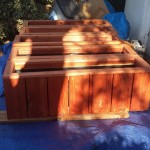 Redwood planters ready for delivery