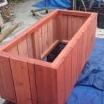 redwood planter Herb garden raised bed