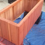 redwood Herb garden raised bed planter
