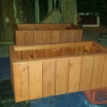 redwood planter Herb garden raised bed box