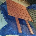 redwood privacy panel to be attached to raised bed planter