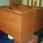 The planters before attaching privacy panels
