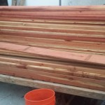 Custom redwood tree planter box - pre-fab