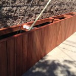 Custom redwood tree planter