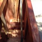Custom redwood tree planter