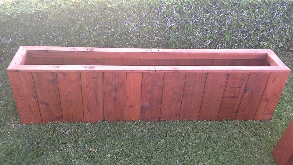 redwood balcony planters - Bel Air