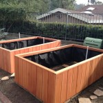 90 x 48 x 24 - redwood planters - sequoia red