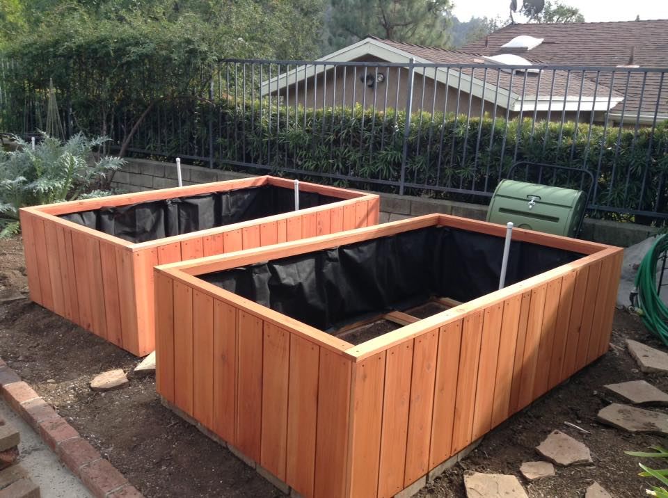 90 X 48 24 Redwood Planters Sequoia Red