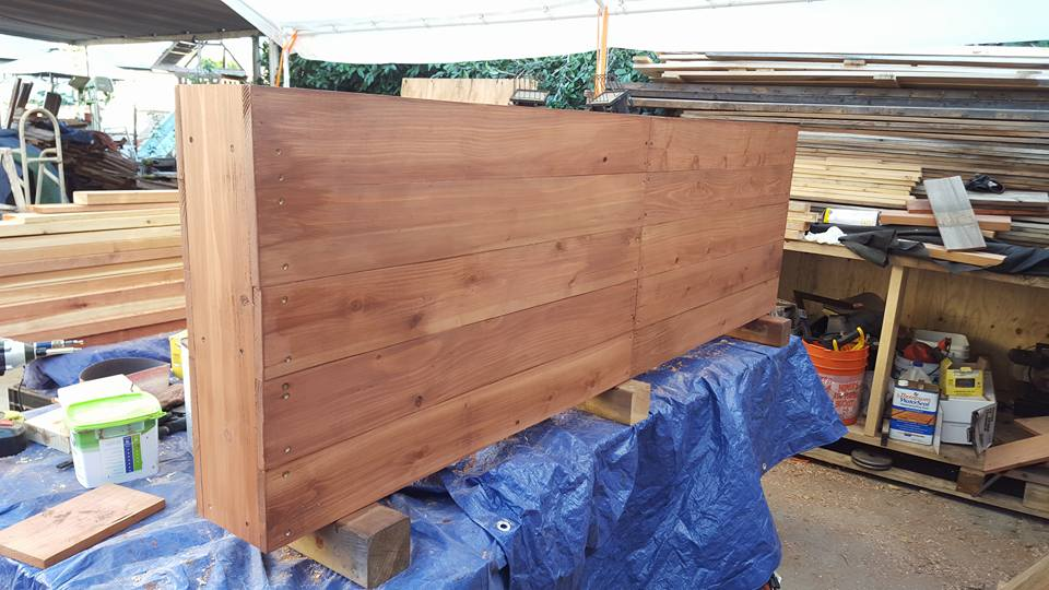"82""x7""x25"" - horizontal style planter redwood"